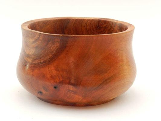 Schale 21: Kirschbaum  Ø: 100 mm, H: 55 mm, Wandstärke: 5 mm   -   Verkauft!