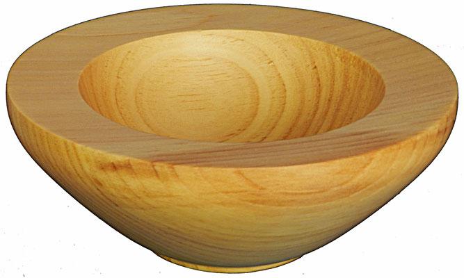 Schale 13: Zeder  H: 70 mm,  Ø: 195 mm,  Wandstärke: 30 mm