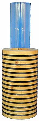 Vase 5: mit Acrylglaseinsatz H: 270mm,  Ø: 90mm