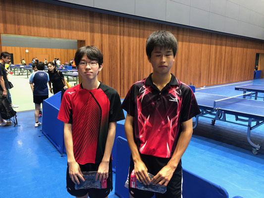 ジュニア男子・順位トーナメント入賞者:宮本選手、萩原選手