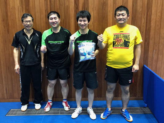 男子順位トーナメント準優勝:ドランカーズ(B)