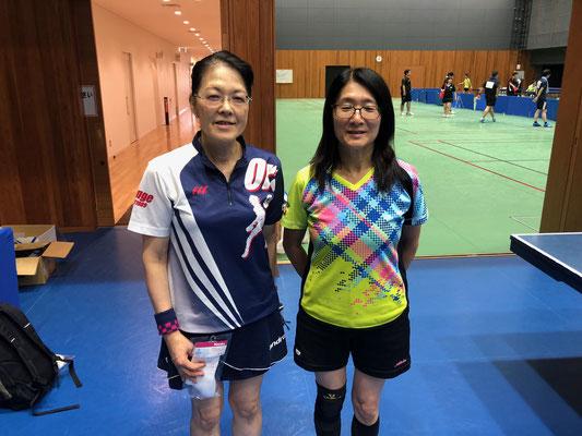 一般女子・順位トーナメント入賞者:池田選手、相沢選手