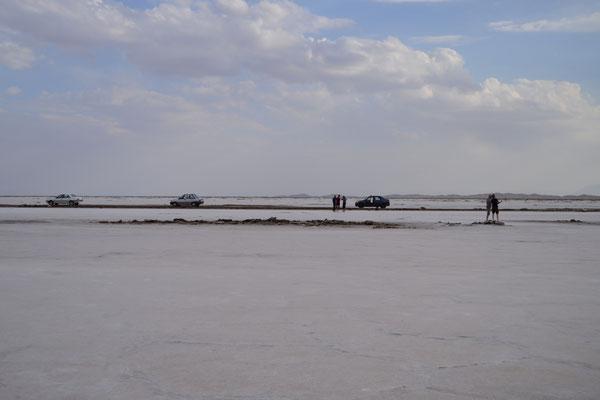 Salzsee in der Nähe von Varzaneh