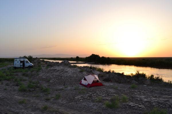 Unerwartete Idylle: die erste Nacht in Turkmenistan