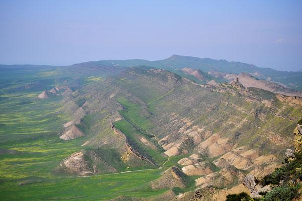 Blick nach Aserbaidschan