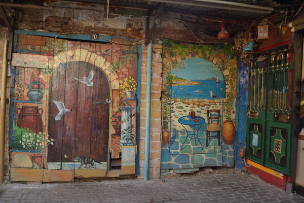 Kreative Hausfassade in Ioannina