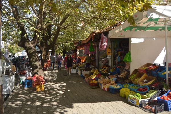 Marktstände in Shkodra