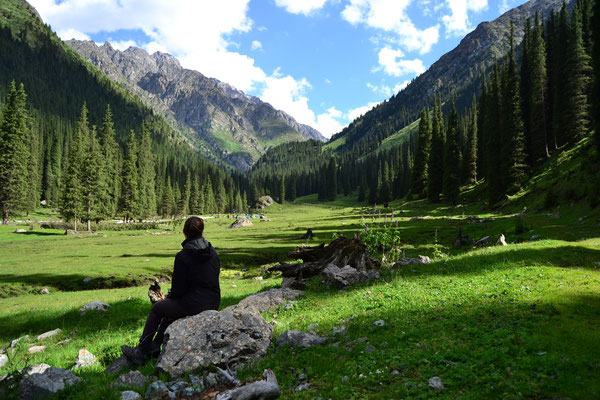 Auf der Wanderung bei Karakol