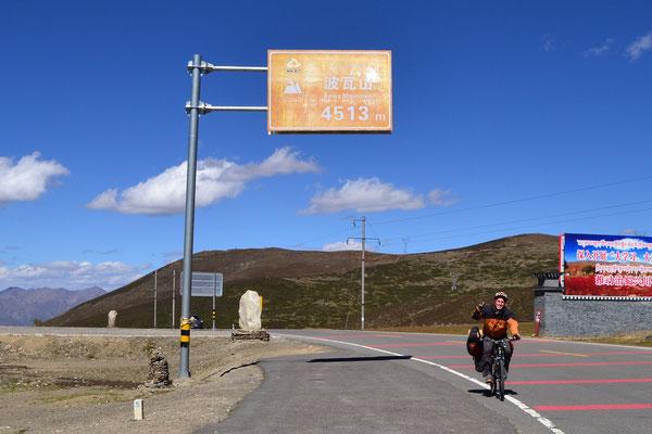 Unser bisher höchster Pass auf 4513 Metern über dem Meeresspiegel