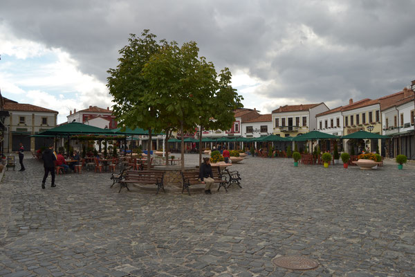 Renovierter Marktplatz in Korca