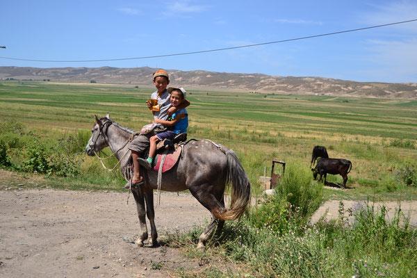 Warum laufen, wenn man reiten kann? (kirgisisches Sprichwort)