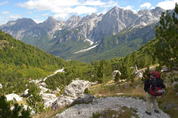 Albanisches Alpenpanorama