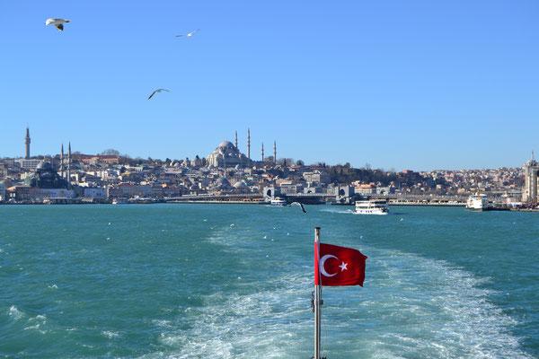 Auf dem Bosporus in Istanbul