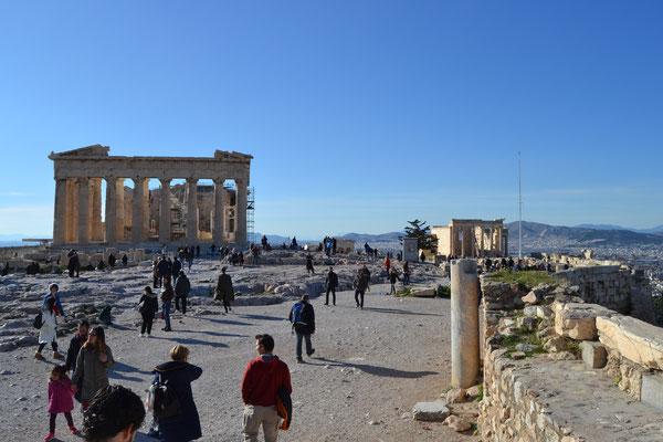 Mit den Eltern in Athen
