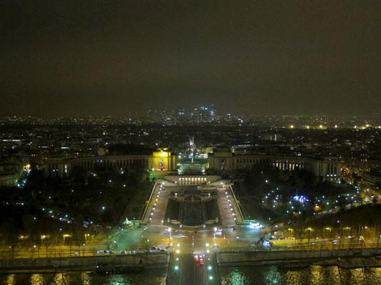 Le Trocadéro vu du haut de la tour Eiffel.