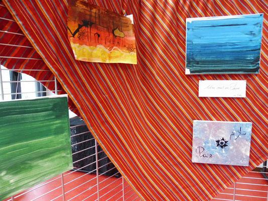 Expostion d'oeuvres réalisées dans le cadre d'un projet d'étudiants.