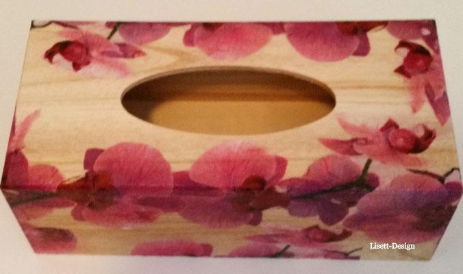 21. Tücher Behälter aus Holz/ Orchidee 7,90 €  (***)