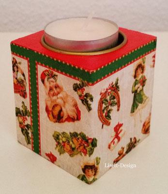 20. Kerzenhälter aus Holz/ Weihnachten 2,90 € (***)