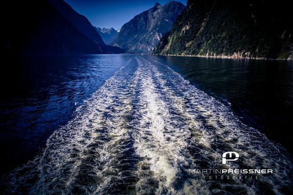 Bootsfahrt in Miford Sound