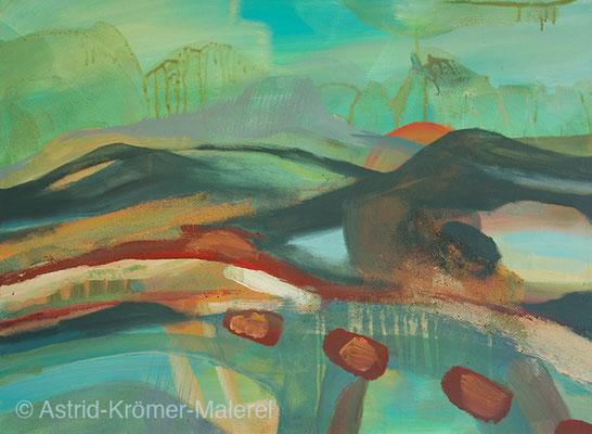Astrid Krömer Malerei, Acylbild: Brücken 1, Leinwand 60x80cm, www.astrid-kroemer-malerei.de