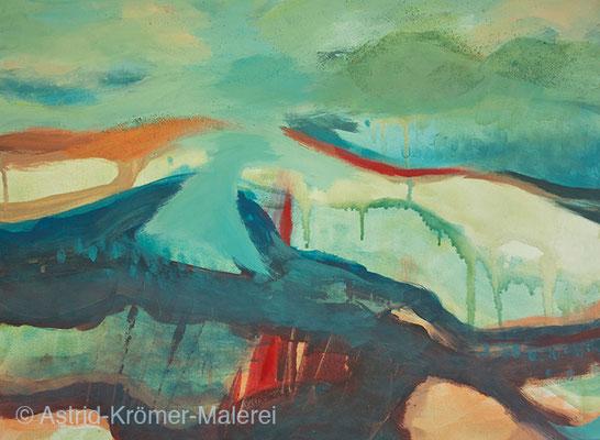 Astrid Krömer Malerei, Acylbild: Brücken 2, Leinwand 60x80cm, www.astrid-kroemer-malerei.de