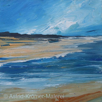 Astrid Krömer Malerei, Acylbild: Kleine Landschaft4, Leinwand 15x15cm, www.astrid-kroemer-malerei.de