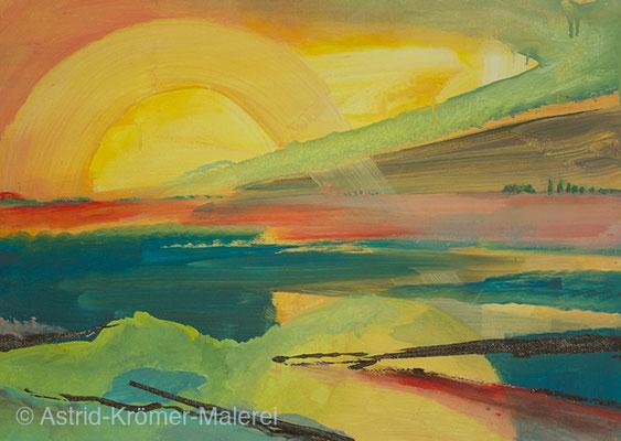 Astrid Krömer Malerei, Acylbild: Sonnenstrahlen, Leinwand 50x70cm, www.astrid-kroemer-malerei.de