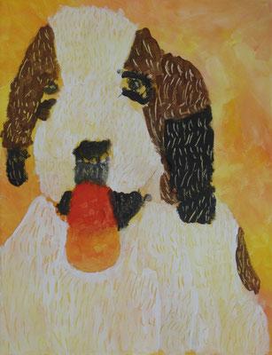 Im Workshop bei Astrid Krömer gemalt von Aaron, 10 Jahre. www.astrid-kroemer-malerei.de