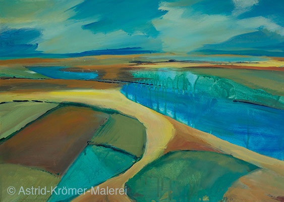 Astrid Krömer Malerei, Acylbild: Kanal, Leinwand 50x70cm, www.astrid-kroemer-malerei.de