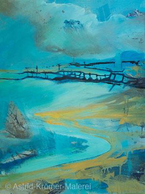 Astrid Krömer Malerei, Acylbild: Sturmflut, Leinwand 80x60cm, www.astrid-kroemer-malerei.de