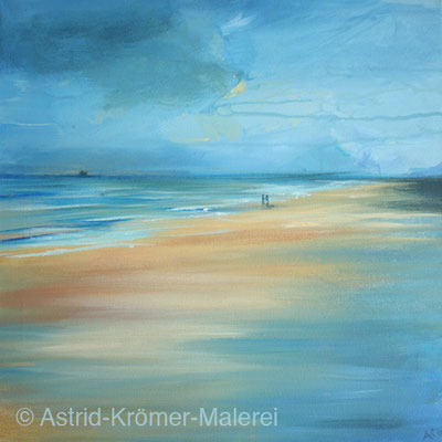Astrid Krömer Malerei, Acylbild: In der Ferne, Leinwand 40x40cm, www.astrid-kroemer-malerei.de