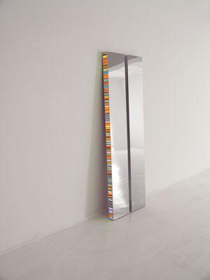 Hans Kotter Twin Edelstahl Plexiglas LED verchromt 200 x 30 x 8 cm
