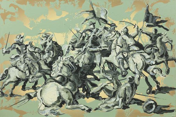 Lennart Grau dynamic of verdigris 2016 Öl, Acryl auf Leinwand 80 x 120 cm
