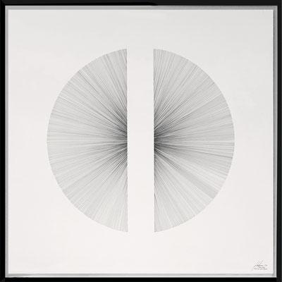 John Franzen Each line one breath 2017 Fineliner auf Papier 100 x 100 cm