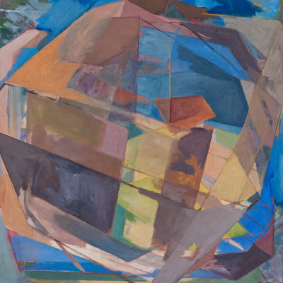 Christoph Kern RyoZ 2010 Eitempera, Pigmente auf Nessel 75 x 75 cm