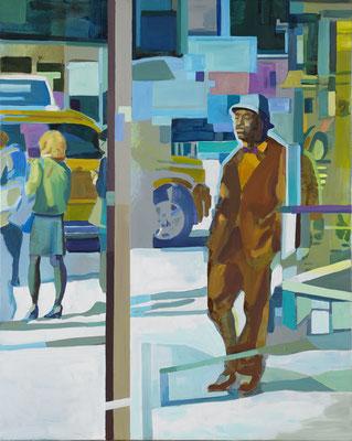 Felix Eckardt An impression in its dissolution 2012 Öl auf Leinwand  100 x 80 cm