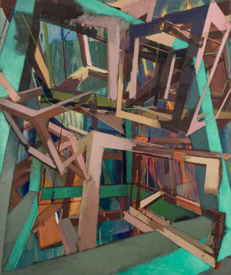 Christoph Kern U = {U} [U] = 20 V 2016 Eitempera, Öl auf Nessel 150 x 125 cm