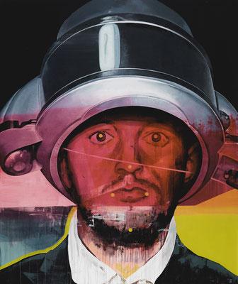 Timo von Eicken The heat is on 2016  Öl und Acryl auf Leinwand 190 x 160 cm