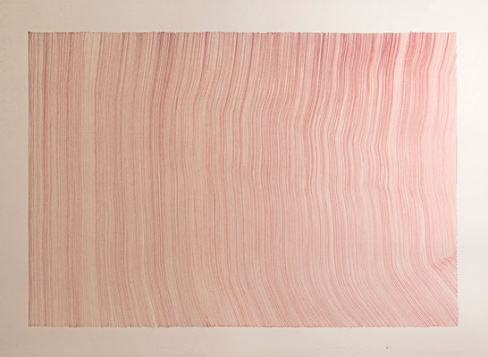 John Franzen Drawn by blood 2017 Blut, Farbe auf Papier 70 x 100 cm