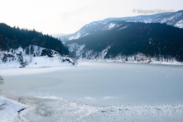 大長谷川の冬景色(富山市)