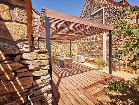 Création et réalisation d'une pergola 4m x 3m + Terrasse bois