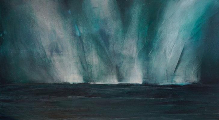 """""""Nordlichter"""", 180x100, Pigment auf Baumwolle"""