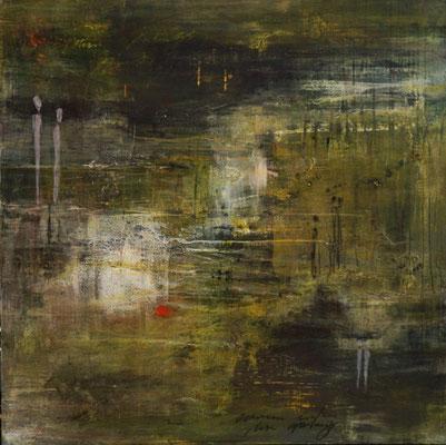 Labyrinth des Lebens, 100x100cm, Acryl auf Leinwand