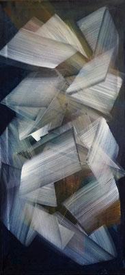 """durchlässig"", 130x60, Acryl auf Leinwand"