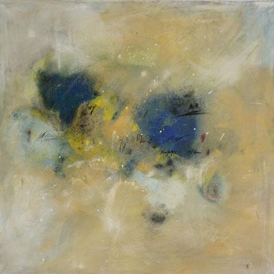 """Bunte Ordnung"", 90 cm x 90 cm, Acryl und Pigment auf LEinwand"