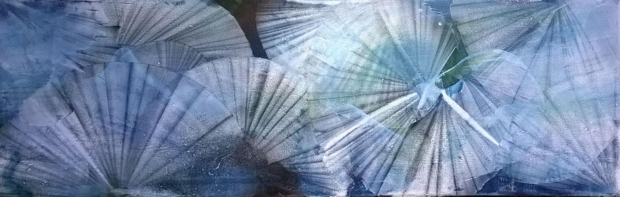 """Frühling"", 90 cm x 30 cm, Pigment auf Leinwand"