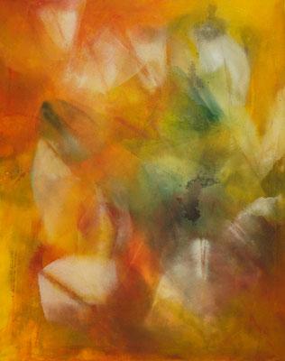 """""""Werden"""", 100x80, Pigment auf Baumwolle"""
