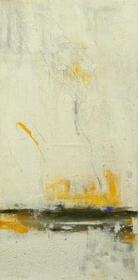 0079 Sonnenuntergang II, Acryl und Marmormehl auf Leinwand, 100x50x4 cm