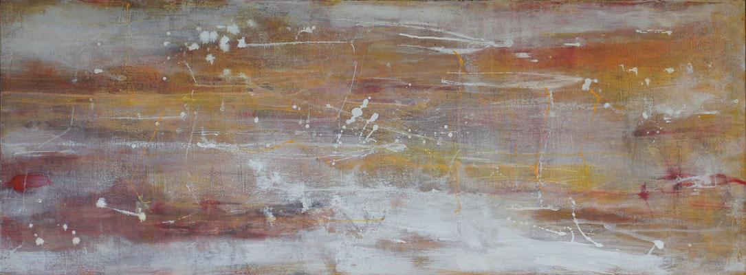 """""""Begegnung in Rot"""", 160 cm x 50 cm, Acryl auf Leinwand"""