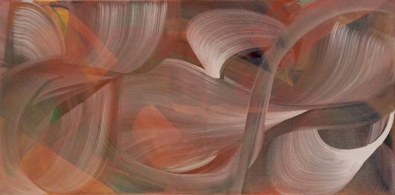 """""""Gefönt, Gelegt"""", 80x40 cm, Pigment auf Leinwand"""